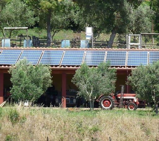 Impianto fotovoltaico a Casale Trigoria. Fonte: Casale Trigoria